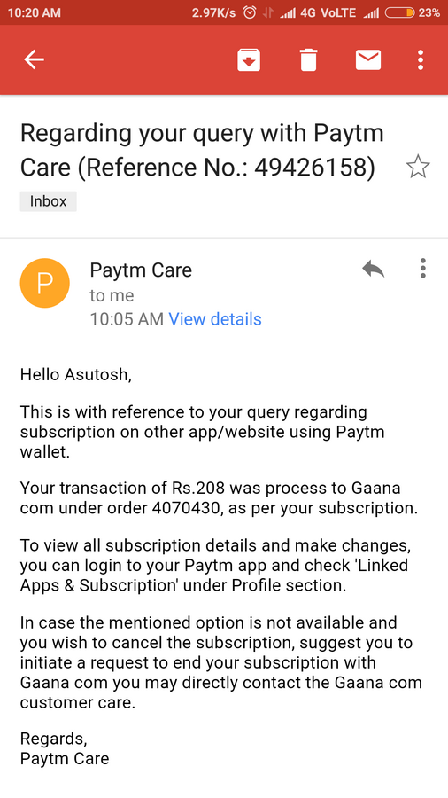 Resolved] Gaana com — I complaining about my gaana auto