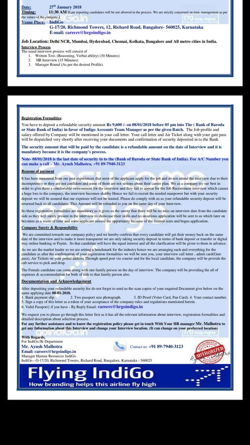 Resolved] Indigo Airlines — regarding money fraud and fake