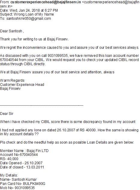 Resolved] Credit Information Bureau India [CIBIL] — wrong