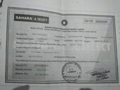 sahara a select mature 20 months back but still amount not getting released