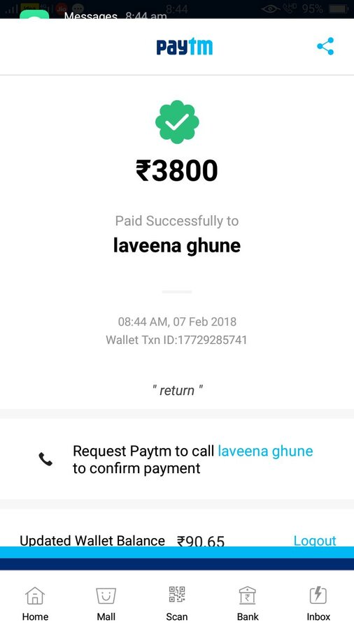 Paytm Mobile Solutions — payment not received by qr code