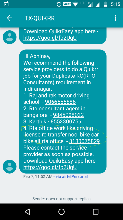 Resolved] Quikr — cheated by company recommended to vendor