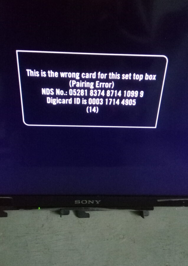 Resolved] Tata Sky — pairing error on my tata sky dth