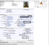 transliteration error while changing address in aadhar card - online