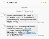 unable to avail first recharge benefits