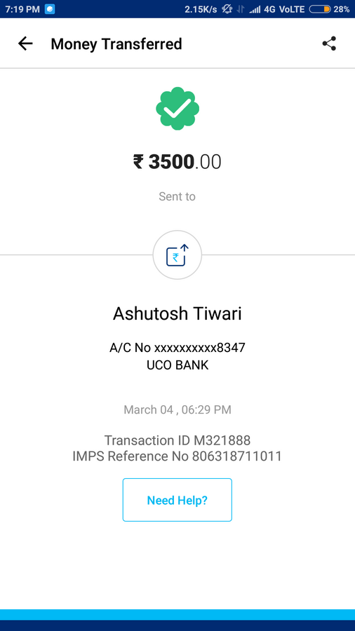 Paytm Mobile Solutions — fraud done by paytm payments bank amount is