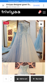 designer gown white of rs. 599