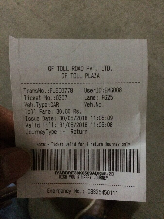 Gurgaon Faridabad Toll Road Pvt Ltd — miss behave by lane