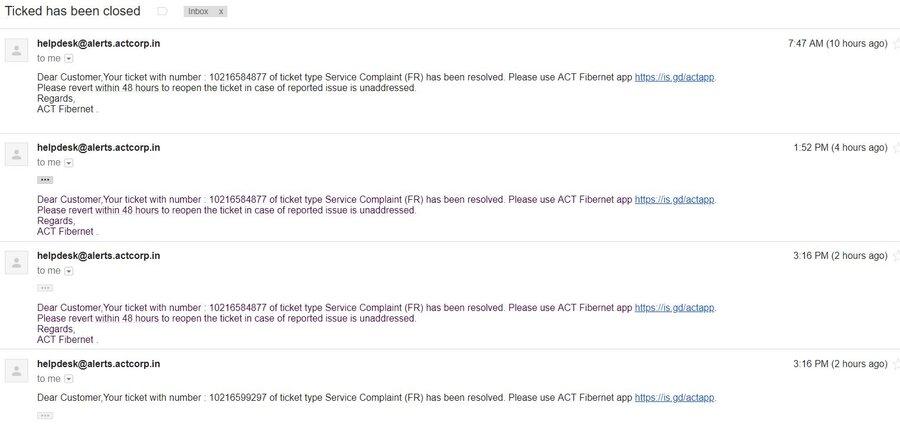 Resolved] Beam Telecom / Act — irresponsible & no resolution