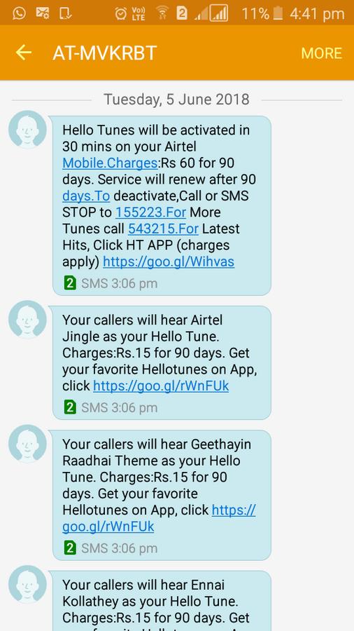 airtel caller tune application