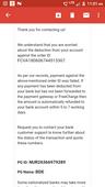 amount refund