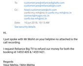 refund of 2 booking amount - cancelled within 4 days of booking