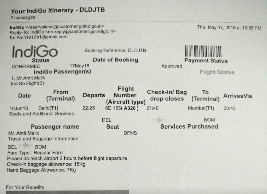 Resolved Indigo Airlines Issuing A Duplicate Boarding Card Or Any