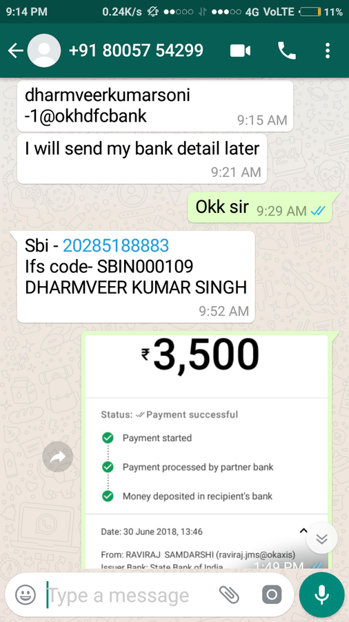 OLX India — product didn't ship by the seller after getting full payment