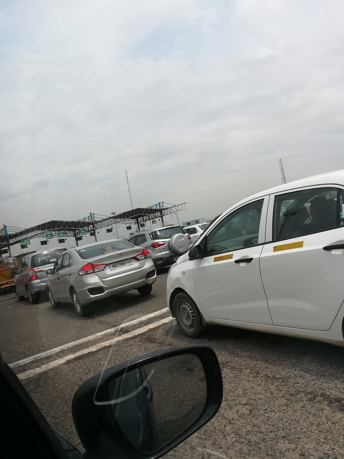 National Highways Authority Of India [Nhai] — long queue at