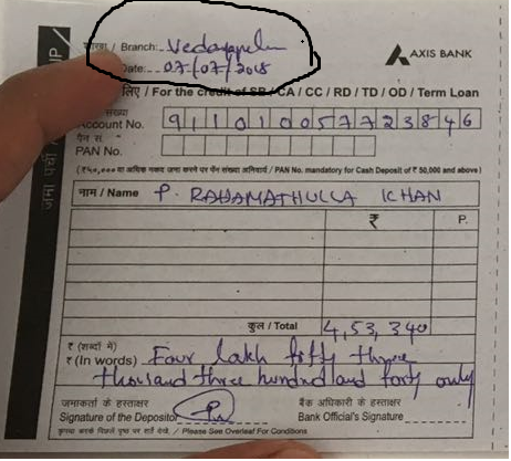 Resolved] Axis Bank — deposited cheque  till now 17 days