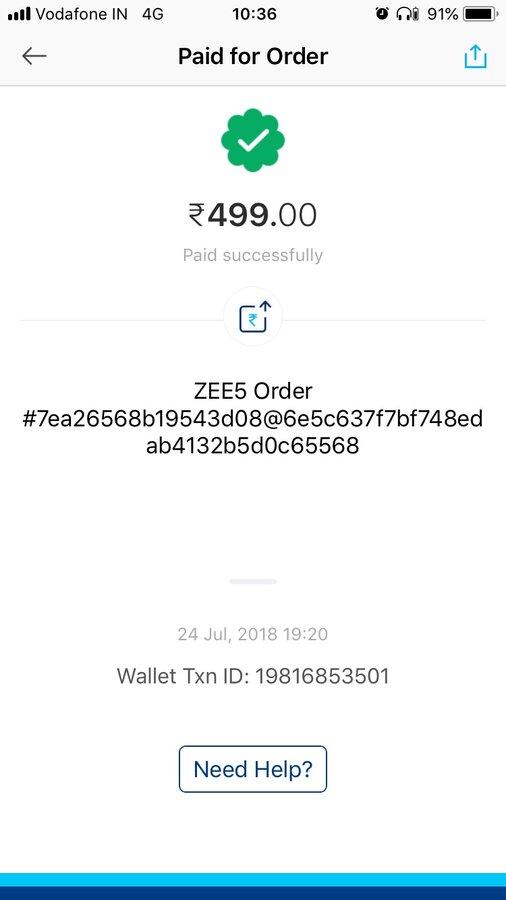 Zee5 account