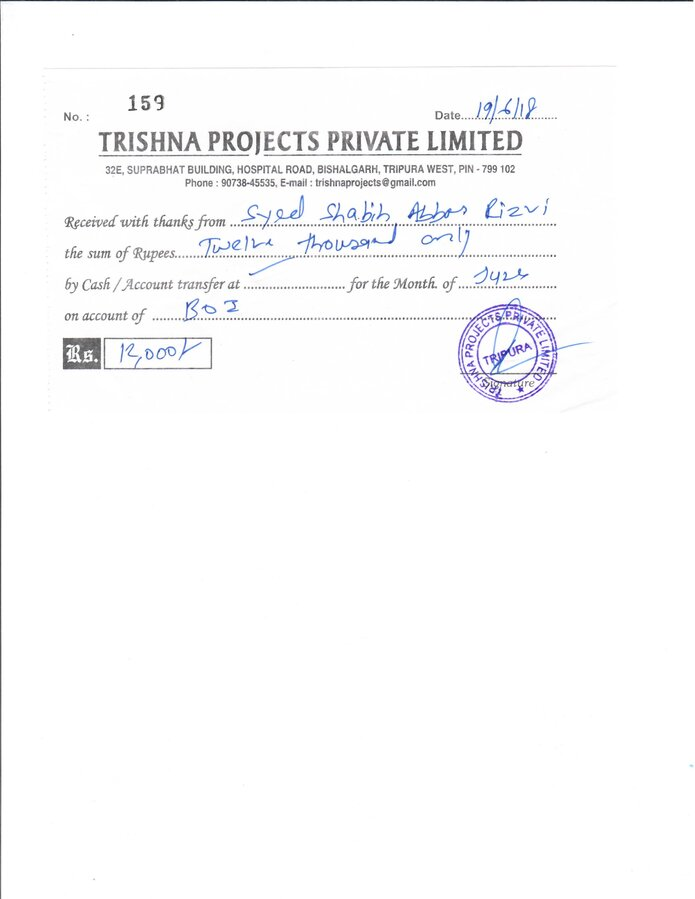 Trishna Projects Private Ltd — fake job offer for kuwait and take