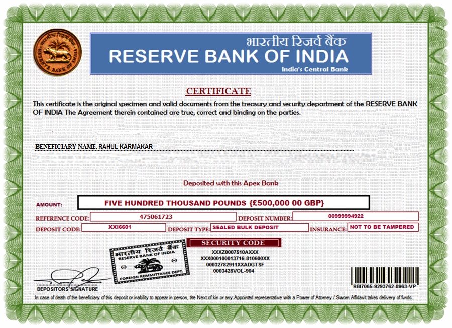 Reserve Bank Of India Rbi True Mail Or Fake Mail