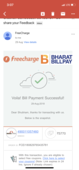 about freecharge payment not received at msedcl