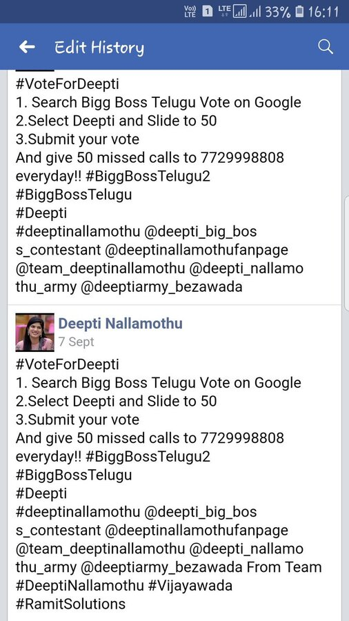 Ramit Solutions — fake votes for deepthi nallamothu