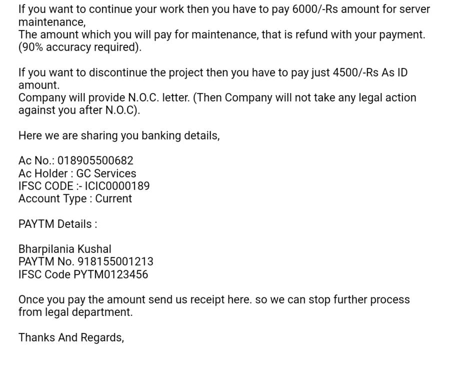 Gc Services F  O  C — fake online job