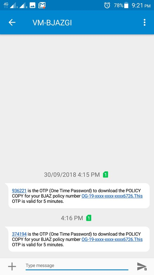 Bajaj Finserv — approved loan (to unknown) with my mobile number