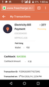 related to refund amount and electricity bill payment