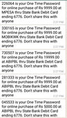 sbi debit card false transaction