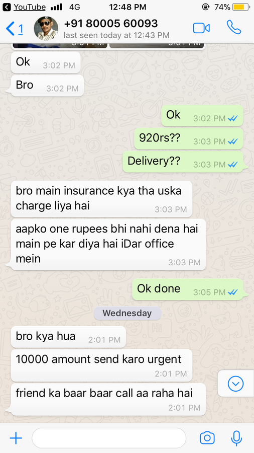 Indian Army — fraud in olx