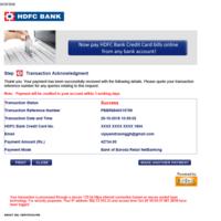 Billdesk Regarding Credit Card Payment