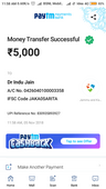 I am complaining about the payment taken from me to the second hand laptop of dr indu jain