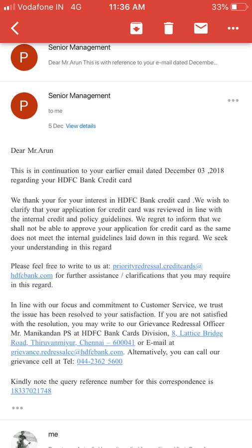 Citibank Credit Card Application Status >> Hdfc Credit Card Application Status Declined | Applycard.co