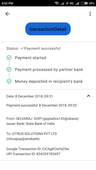 amount deducted from my account and credited to party account but the recharge is not happen this is second time for me
