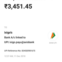 Resolved] Ixigo — payment 3, 451 45/- rs successful but not showing