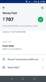 refund of rs 707 since 23rd december 2018