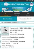 ticket not booked but amount was deducted from account