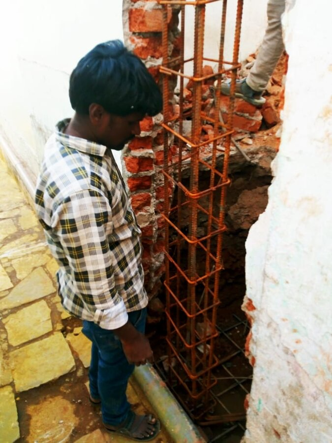 The Commissioner, GHMC — illegal construction in front, of