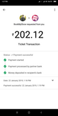 amount deducted towards movie tickets