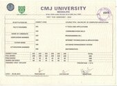 bca, marksheet and certificate query passing of year 2012