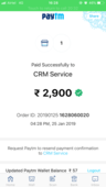 info edge taken rupees 22560 from me through google pay and paytm for getting job offer.