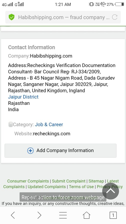 Habibshipping com — fraud company and fake job scams