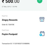 Zingoy — paytm postpaid zingoy rewards ticket no[protected]