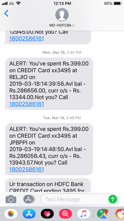 Rpsl Billdesk 399 Rs Cut From My Hdfc Credit Card For