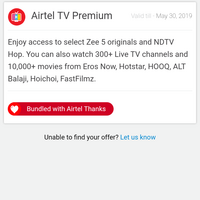 Airtel — hotstar premium subscription