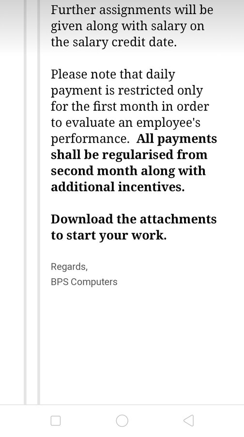 Bps Computers Pvt Ltd — no payment received