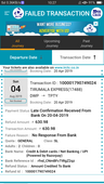 failed transaction amount is not refund