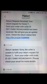 want refund but flipkart saying reasons only