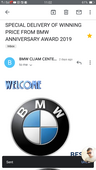special delivery of winning price from bmw anniversary award 2019