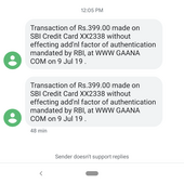 Gaana com — auto renew and debited amount two times